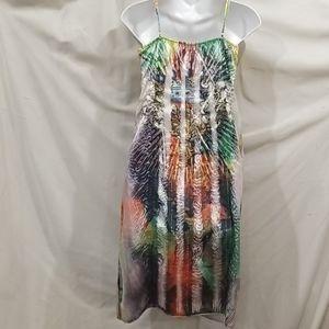 ANAMA size Small tattoo tie dye slip dress